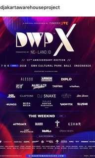 DWP X Bali VIP 3 day ticket