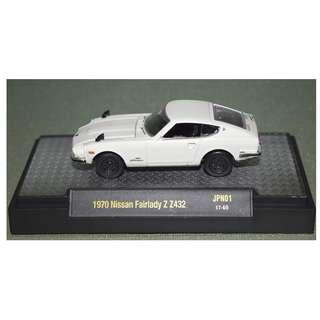 M2 Machines 1:64 Auto-Japan Series 1 1970 Nissan Fairlady Z432 White 1:64 Diecast Car