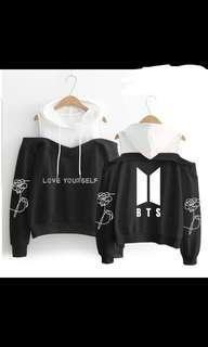 BTS Off-Shoulder Shirt With Hoodie