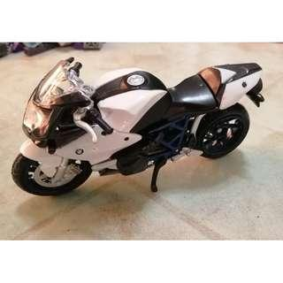 BMW Motorcycle Toy 3.75 inch 1:18 scale
