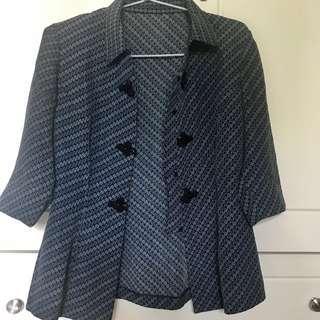 Blue Batik Blazer