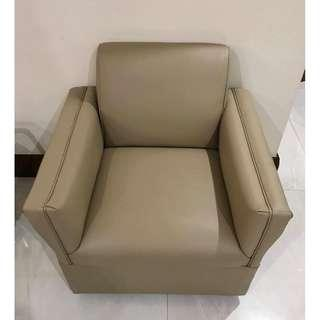 Leather Single Sofa / Accent Chair