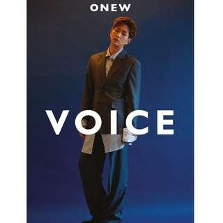 ONEW FIRST SOLO ALBUM - VOICE