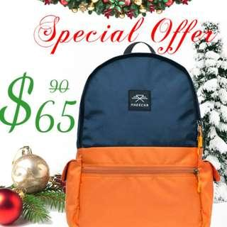 🚚 Orange-blue capsule bag || Colorful bag || Cool looking || Internal compartments || Water resistant || laptop bag || Travel bag || Comfortable || Designer || Made in Nepal || Long lasting || Durable || Gifts || For all ages