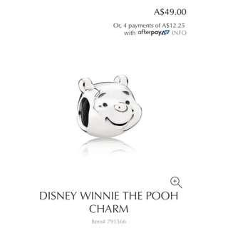 Pandora Disney Winnie The Pooh Portrait Silver Charm