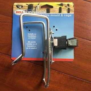 BELL Universal water bottle mount and cage. New!