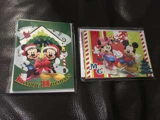 9張 米奇老鼠 聖誕卡 disney mickey mouse