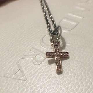 Authentic Pandora Rose Gold Cross Pendant