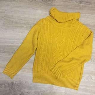 🚚 薑黃高領毛衣