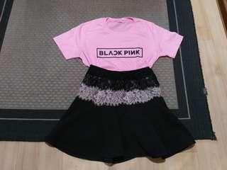 Bundle black pink shirt + shirt