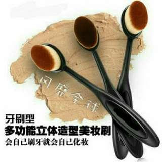 Wet & Dry Makeup Face Powder Foundation Mini Soft Toothbrush