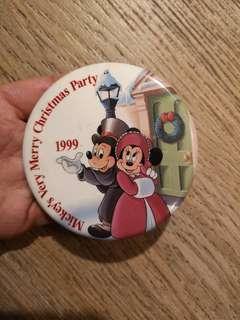 1999  米奇 迪士尼mickeys Very Christmas Party扣針章 徽章