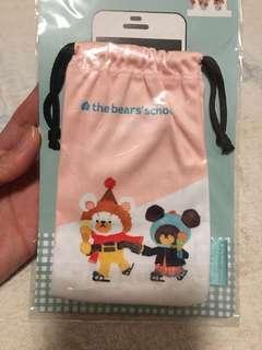 包郵全新the bear's school jackie 電話袋 索繩袋