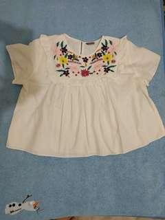 White embroidery blouse import