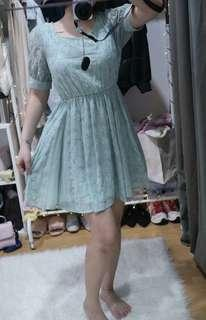 Dip drop mint dress