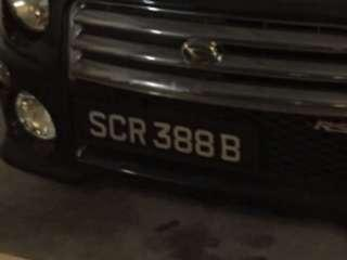 Selling My SCR388B Car Number Plate