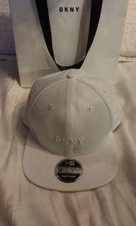 DKNY New era white cap