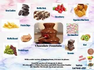 Chocolate fountain live station