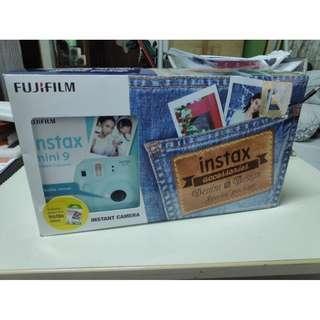 STEAL DEAL 💥 BNIB Fujifilm Instax Mini 9 Ice Blue Denim Special Package