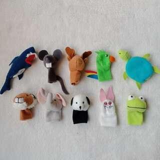 Titta Djur By Ikea 10-piece Finger Puppet Set