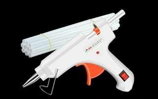 包郵 熱溶 膠槍 40W 送10支膠棒 2腳插頭 小號 熱溶膠 手工 製作 電熱溶 多功能 家用 膠水條  熱溶膠棒 7mm 熱溶棒