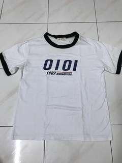 White Black Lined Tshirt #DEC50