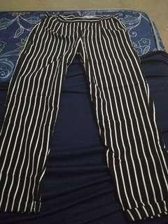 Zara basic stripe pants