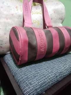 lacoste inspired round cute bag