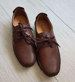 Men's brown leather shoes (formal/casual)