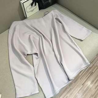 Oversized cold shoulder top