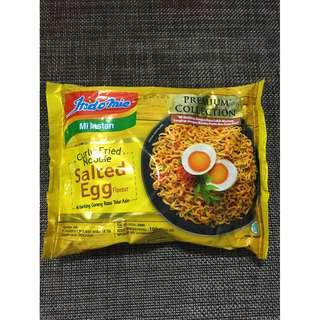 Indomie Curly Fried Noodle Salted Egg Flavour for sale $2.5 each (Rare)