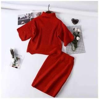 Knitted set wear
