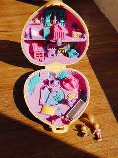 1994 Vintage Polly Pocket Strollin Baby- Babysitting Collection
