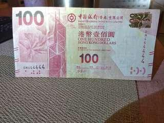 中银100元6同号全胜分享