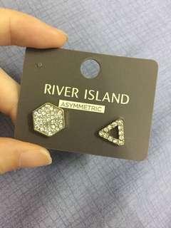 River Island Asymmetric Earrings