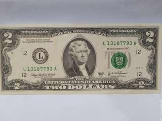 二元美鈔-全新直版