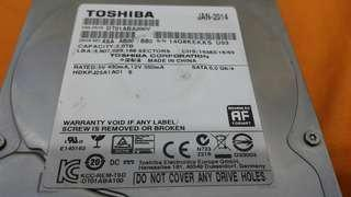 "🚚 2.TB TOSHIBA 3.5"" sata hdd"