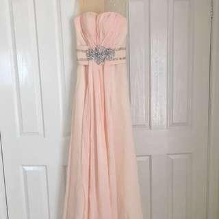 Custom made peach formal dress size XS/6