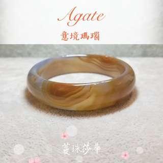🎅聖誕月手鐲優惠🦌Special offers $499🔥🔥🔥 【Agate】【意境瑪瑙手鐲~內徑56.6mm】 濃濃的焦糖底色🍯非常美💖