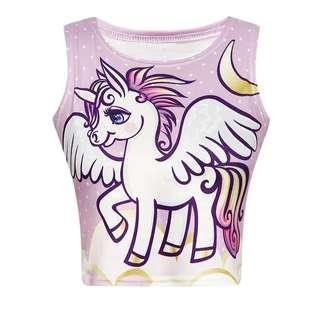 Unicorn Pastel Crop Top