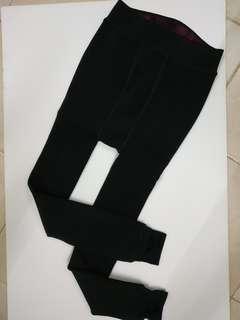 全新超保暖黑色貼身褲,black tight pants, 100% New,free size