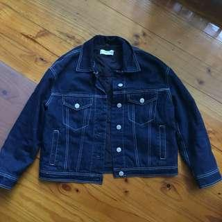Mango padded denim jacket