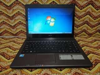 Laptop Acer Aspire 4738 i3 Ram 5gb Kondisi Normal Banget