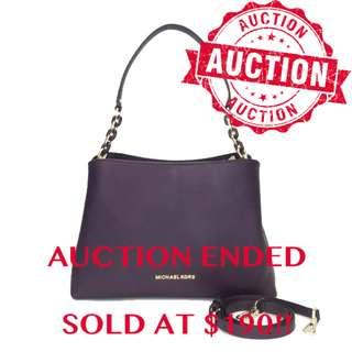 ⏰ENDING SOON!!Authentic Brand New Michael Kors Sofia Large EW Satchel Damson From USA Suggested Retail: $758