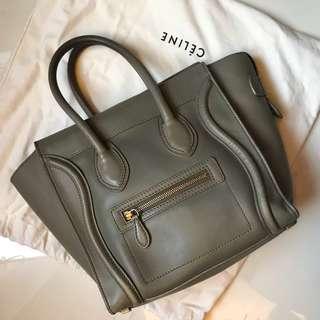 Celine nude micro灰手挽袋 nano bag not givenchy Chanel