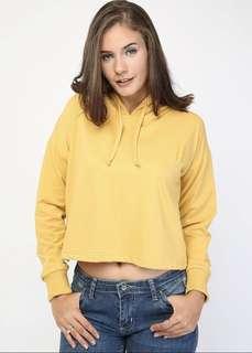 NEW! Crop Hoodie Yellow