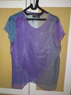 Sheer purple top
