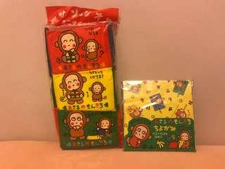 Sanrio monkichi 手工紙&紙巾