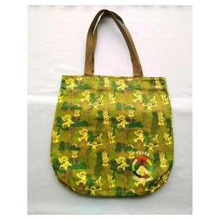 Sesame Street Elmo Camou Green Peace Shopping CanvasTote Bag