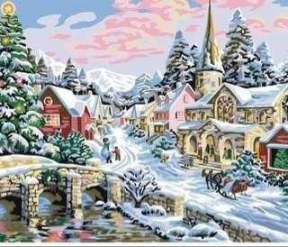 Paint by Number - Winter Scenery